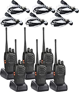 featured product Radios Walkie Talkies Set (6 Pack) 2 Way Radio with 6 Air Acoustic Tube Earpiece UHF Long Range Rechargeable Two Way Radios for Adults