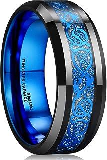 Dragon Blue Celtic Tungsten Carbide/Tungsten Silicone Set...