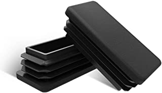 Caplugs 99394222 Plastic Rectangular Finishing Cap with Flat End Grip Vinyl Pack of 80 Black VRF-125X750-16 Length 1.000 ID 0.750