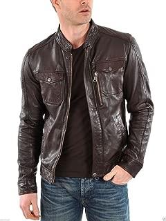 Leather Mens Lambskin Bomber Bkier Leather Jacket