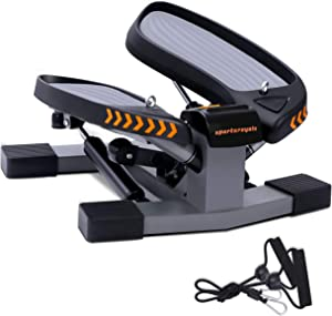 Sportsroyals Stair Stepper for Exercises-Twist Stepper with Resistance Bands and 330lbs Weight Capacity