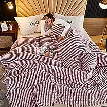 Baixtuo Mantas para Sofa Mantas para Mantas para Cama Mantas Ligeras De Limpiar - Extra Suave CáLido (Rosa, 120x200)