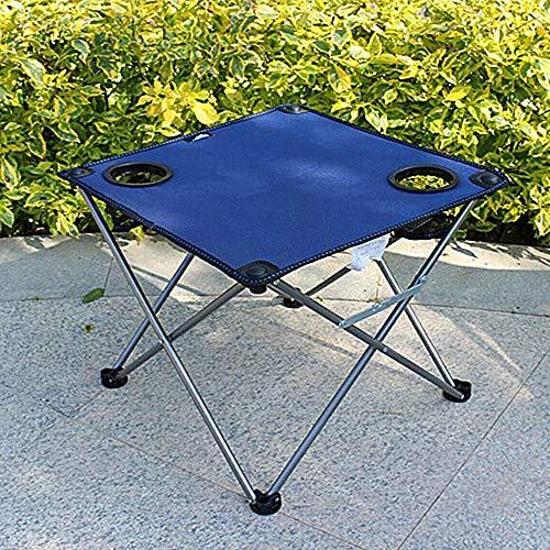 KKDWJ Al Aire Libre Mesa de jardín, Ultralightlight Plegable Mesa de Camping con Bolsa de Almacenamiento y Bolsa de Transporte, adecuados para Barbacoa de la Playa y Pesca,Azul