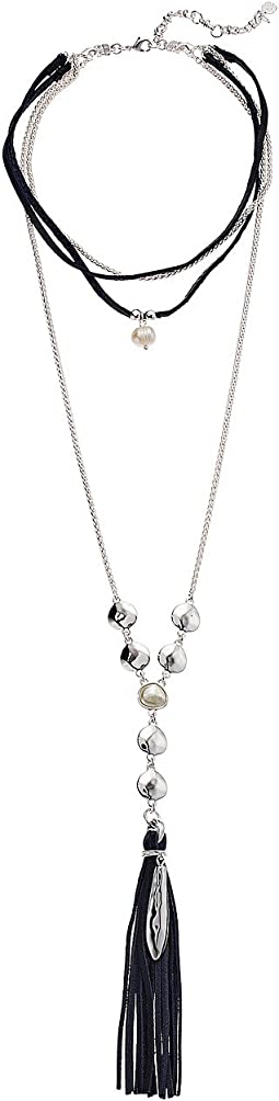 Lucky Brand - Pearl High Shine Layer Necklace