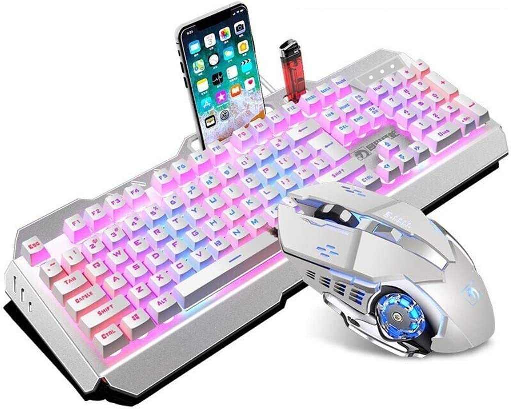 Year-end gift Shavanpark Limited time trial price Mechanical Gaming Keyboard Mouse Combo Mobi with a