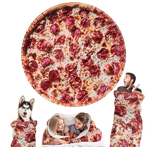 Outivity Burritos Tortillas Blanket, Novelty Giant Human Burritos Wrap Blanket, Soft Comfort Round Gag Pizza Blanket Throw Blanket for Adults