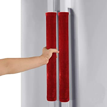 Comforfeel Refrigerator Door Kitchen Appliance Handle Covers, Keep Your Kitchen Appliance Handle Clean (Red)