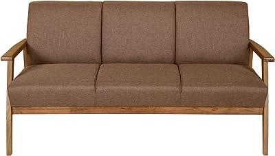 Nilkamal Layla 3 Seater Sofa, Light Walnut
