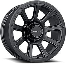 VIS-VOR 4 Vision 353 Turbine 20x9 8x6.5 +12mm Matte Black Wheels Rims 20