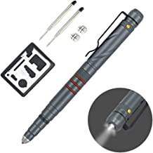 Aotedor Tactical Pen with LED Flashlight for Men Women Self Defense, Military Grade Glass Breaker + Ballpoint Pen with Refills + Multi Tools EDC Survival kit