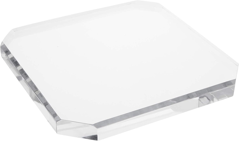 Plymor Clear Acrylic Beveled Corner-Cut H price x 0.75