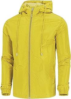Men's Lightweight Windbreaker Jacket Waterproof Hooded Outdoor Jackets Casual Outwear