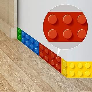 ufengke Building Blocks Wall Stickers Skirting Board Wall Decals Art Decor for Kids Bedroom Living Room Nursery