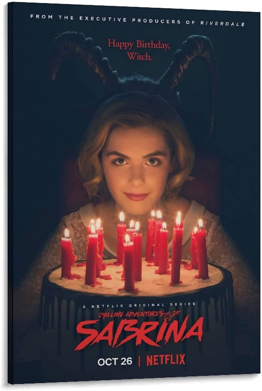 Horror Movie SABRINA Poster Will Graphic Canvas Ferrell Wa free Outlet ☆ Free Shipping
