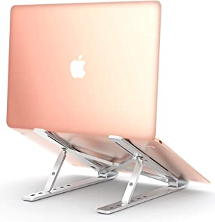 COMSOONLaptopStand, Adjustable Portable Laptop Holder for Desk, AluminumVentilated NotebookRiser forMacBookAirPro,DellXPS, More 10-15.6 inches PC Computer, Tablet, iPad (Silver)