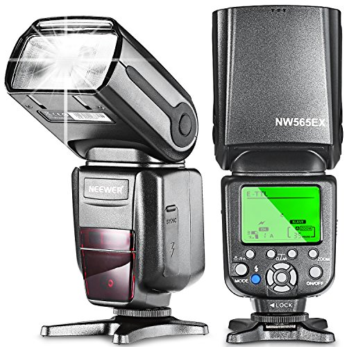 Neewer NW 565/E TTL. Juego de flash Speedlite desmontable para Canon Rebel T5i T4i T3i T3...