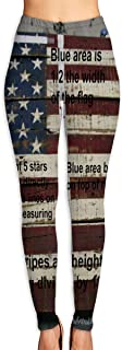 Cyloten How to Make an American Flag Yoga Pants Washable Legging Tights Quick Dry Sportswear for Women Girl Workout