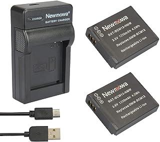 Newmowa® DMW-BCM13 Batteria (confezione da 2) e Portable Micro USB Caricatore kit per Panasonic DMW-BCM13, DMW-BCM13E, DMW...