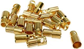 Karcy Banana Plug 6mm Bullet Connector RC Banana Bullet Connector Female & Male Gold 10 Pairs