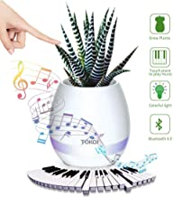 TOKQI Music Flowerpot Wireless Speakers Night Light Breathing LED Musical Flowerpot Smart Plant Pots Play Piano by Touching Plants Office Home Decor Festivel Gift (White)
