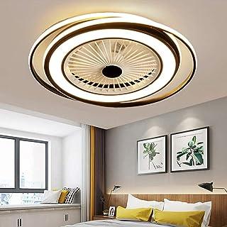 LED 50W Ventilateur De Plafond Lumière Invisible Réglable Lumière De Plafond Moderne Avec Éclairage Plafonnier Chambre Dim...