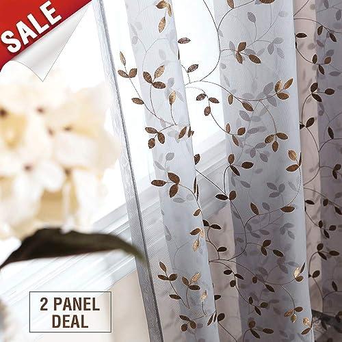 Leaves Curtains Amazon Com