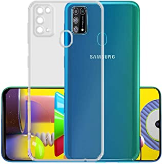 ValueActive for Samsung Galaxy M31 Case Cover Slim Crystal Clear Soft TPU Back Cover Anti-Dust Plugs Protection Skin Camera Protect Back Case Cover for Samsung Galaxy M31-Transparent