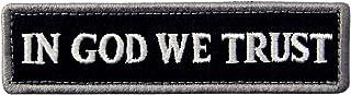 In GOD We Trust Patch Embroidered Tactical Morale Fastener Hook & Loop Emblem