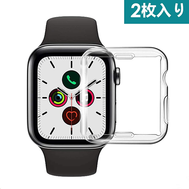 フラスコかんがい教養があるApple Watch 40mm ケース SUNCOON【全面保護】Apple Watch Series 5 ケース 衝撃防止 装着簡単 アップルウォッチ5 ケース40MM Apple Watch Series 5/4ケース二個セット (40MM)