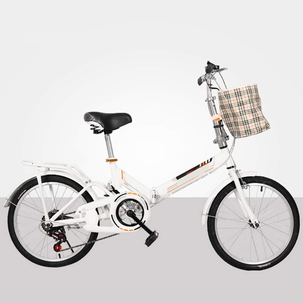 Velocidad Variable For Mujer Bicicleta Con La Cesta De La Lona, ajustar El Asiento,