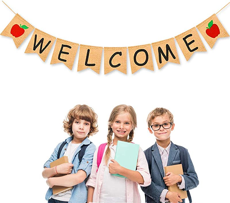 ZLIXING First Day Of School Banner Welcome Back To School Decorations For Classroom Decor Student Teacher Supplies