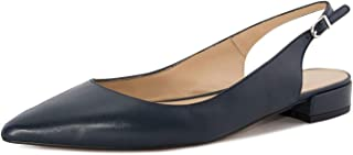navy blue pointed court shoes