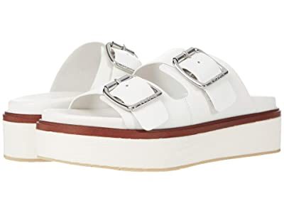 J/Slides Bowie (White Leather) Women