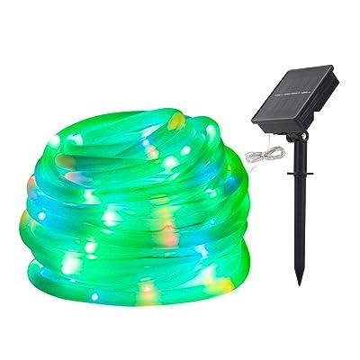 LED String Lights Solar RGB 100 LED Rope, Outdo...