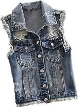 Amazon.it: gilet jeans donna