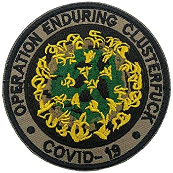 Operation Enduring Cluster Fuck Outbreak Team Response Patch,Military Embroidered Patch Military Hook and Loop Badge Embroidery Patches Embroidered Patch
