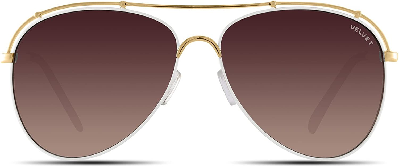 Velvet Trends Mia   Aviator Metal Frame Women Sunglasses