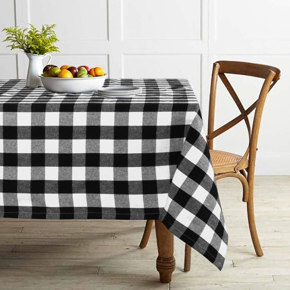 Lahome Farmhouse Buffalo Check Plaid Gingham Grid Tablecloth Luxury - Max 84% OFF W