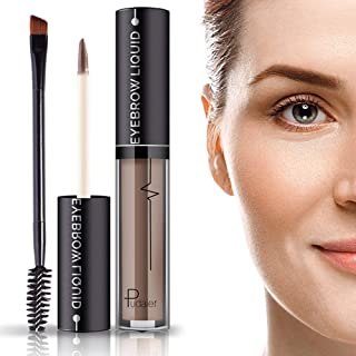 Waterproof Tinted Brow Gel- 24Hours Long Lasting Smudge-Proof Tinted Eyebrow Makeup with Eyebrow Brush- Full, Natural Brows for Women