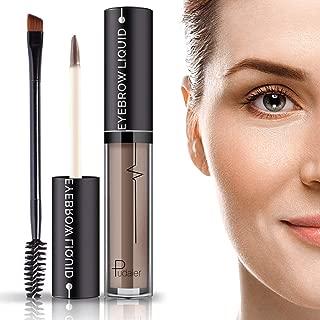 Waterproof Brow Gel- 24Hours Long Lasting Smudge-Proof Tinted Liquid Eyebrow Makeup Gels with Brush- Full, Natural Brows-Brown