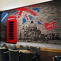 壁の3Dヨーロッパレトロ模造レンガ壁壁画壁紙レストランコーヒーリビングルーム壁紙壁画-400x280cm