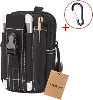 MoKasi Tactical MOLLE Pouch EDC Utility Waist Belt Gadget Gear Bag Tool Organizer with Cell Phone Holster Holder