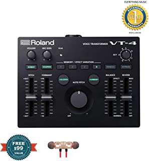 Roland AIRA VT-4 Voice Transformer includes Free Wireless Earbuds - Stereo Bluetooth In-ear and 1 Year Everything Music Extended Warranty