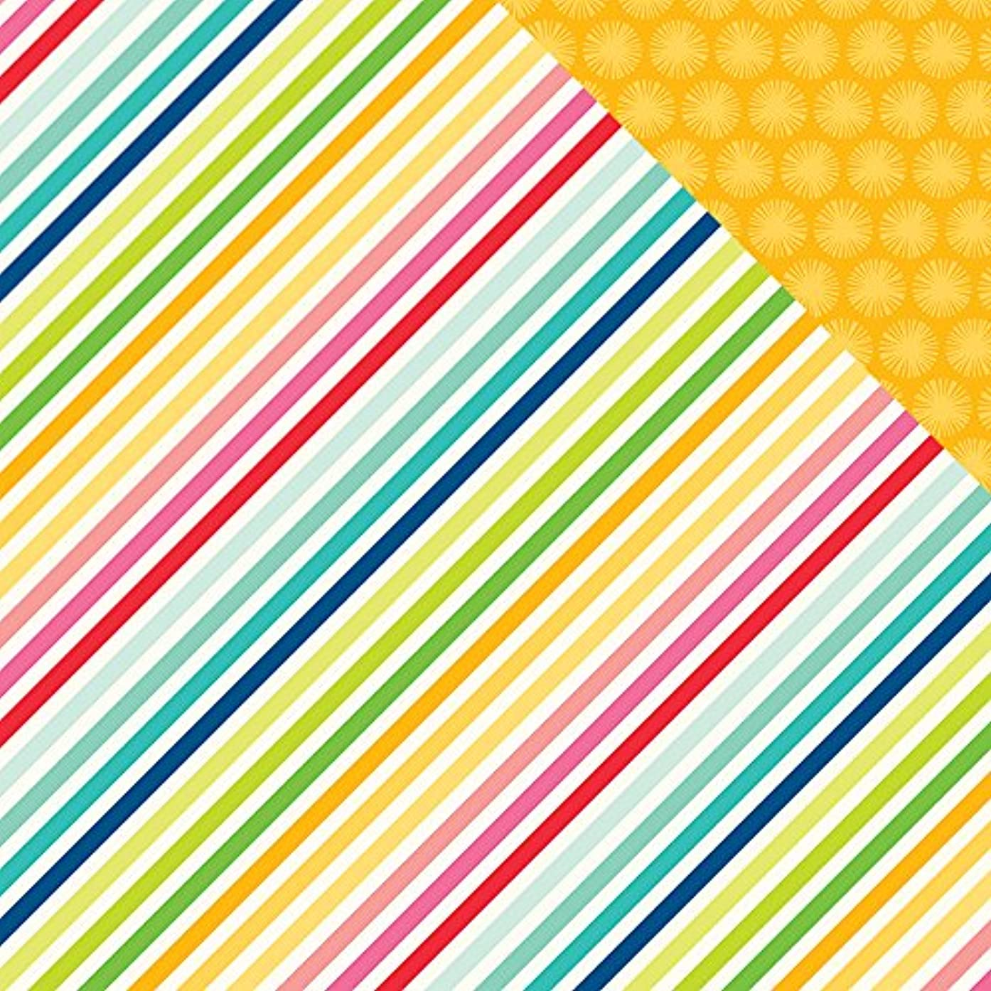American Crafts Fun in The Sun Double, Sided Cardstock, 25 Sheets, 12