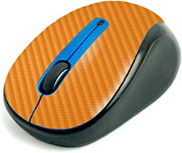 MightySkins Carbon Fiber Skin for Logitech M325 Wireless Mouse - Solid Orange, Protective, Durable Textured Carbon Fiber F...
