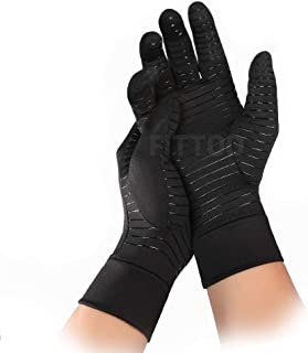 FITTOO Arthritis Compression Gloves Comfy Fit, Men & Women Open Finger & Anti-Slip Hand Compression Gloves for Joint Pain ...