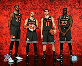 Kevin Durant, Stephen Curry, Klay Thompson, Draymond Green Golden State Warriors 2017 NBA All-Star Game Photo (Size: 8
