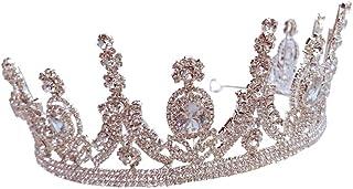 RKY Parte Superiore delle Ragazze, Crystal Bambini Copricapo Corona Principessa Girl Corona d'Argento di Compleanno con St...