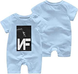 Baby NF Rapper Logo Print Newborn Bodysuits Tee T Shirt Short Sleeve Tshirt for Kids Boys Girls Crew Neck Clothes