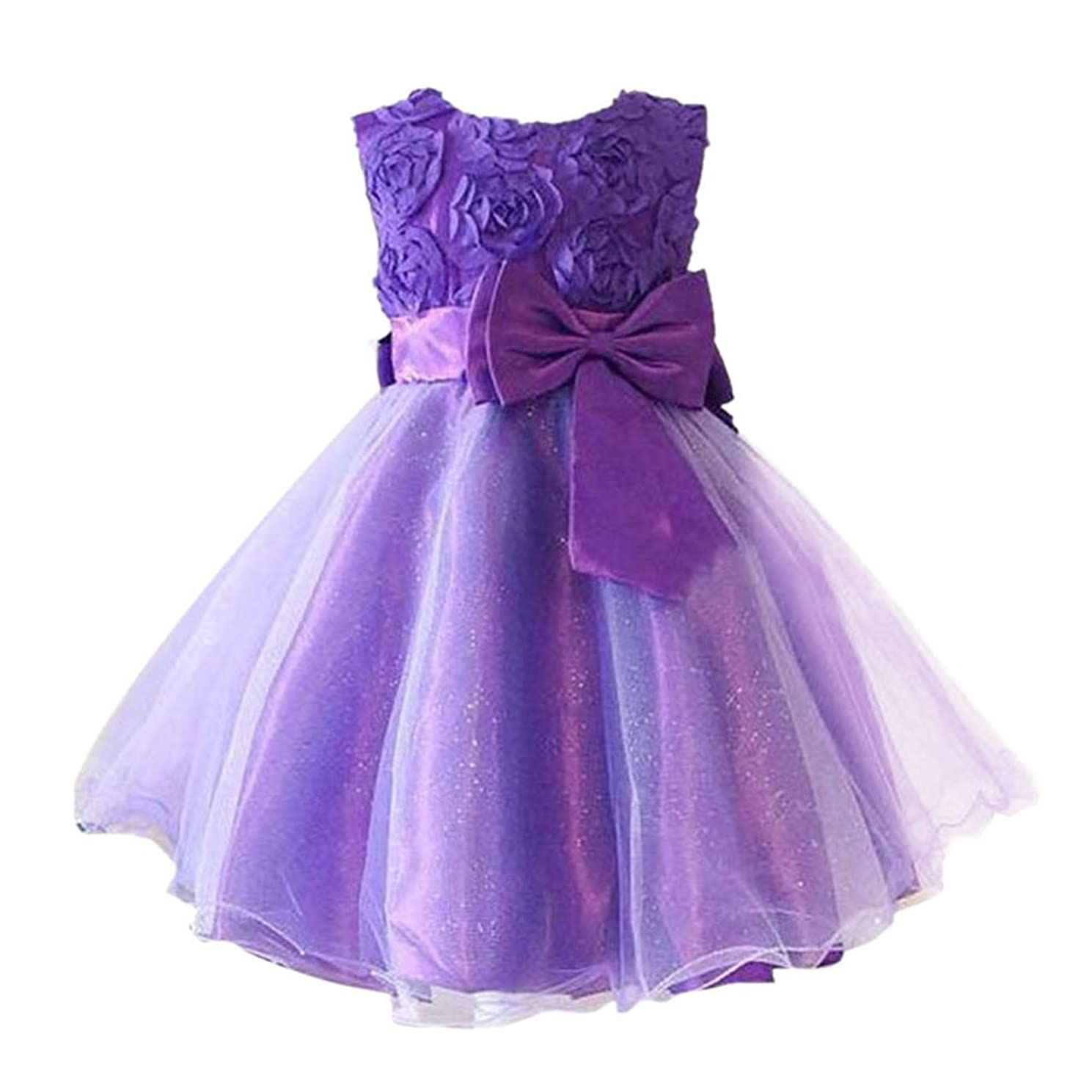 Froomer Flower Girl Princess Dress Toddler Wedding Party Tulle Dresses